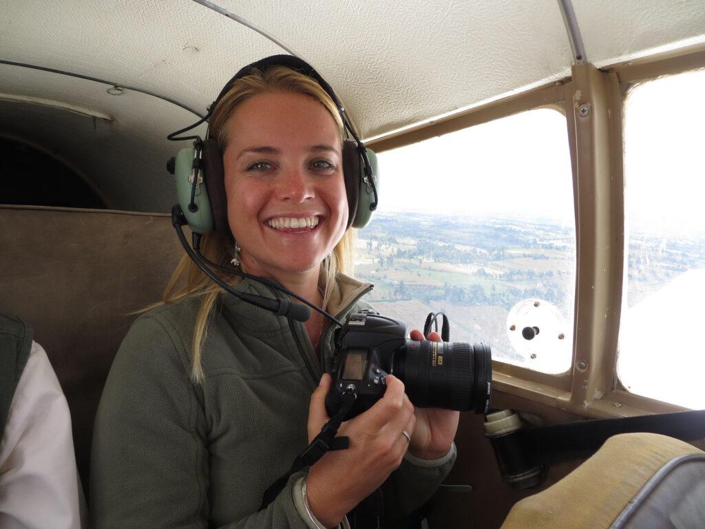 Family safari specialists - Tess plane photography kenya