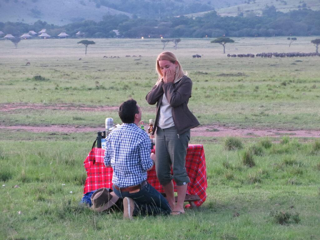 proposal photo Masai Mara Kenya safari