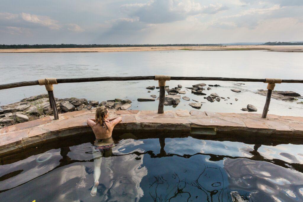 Tanzania Nyerere Sand Rivers Selous family safari pool