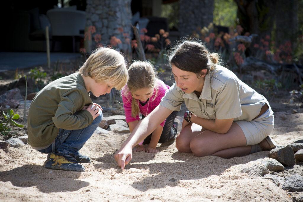 South Africa wild child tracking lesson family safari