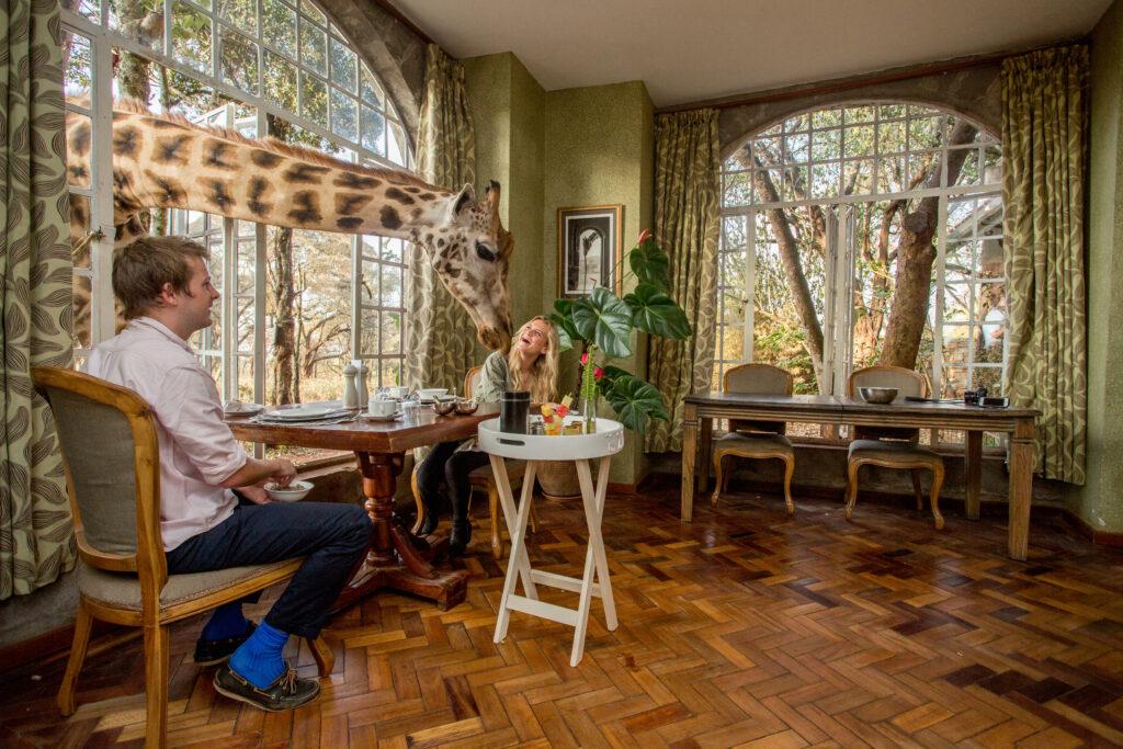 Kenya Nairobi Giraffe Manor breakfast