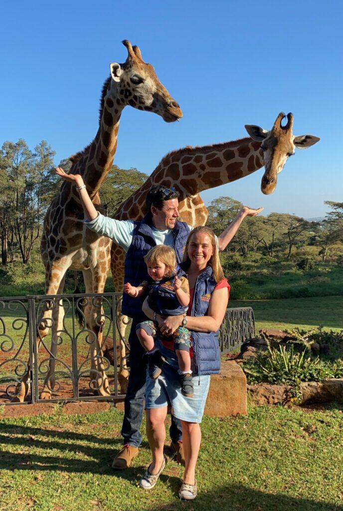 Kenya Giraffe Manor Nairobi Kelly family safari
