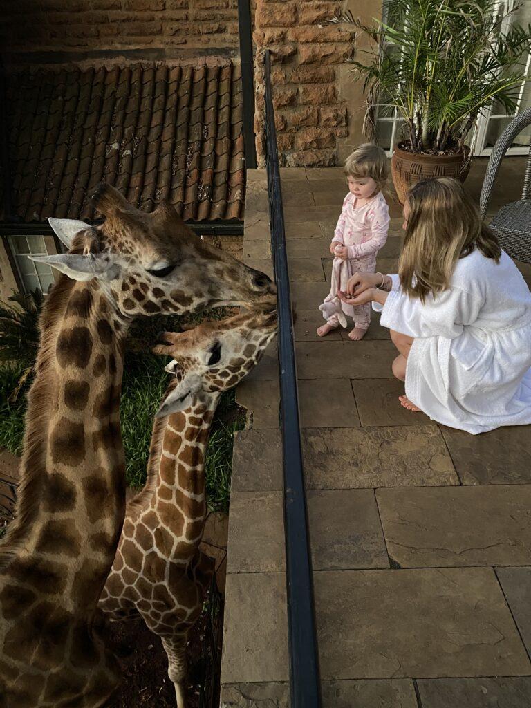 Kenya Giraffe Manor Nairobi Tess and Elsa family safari