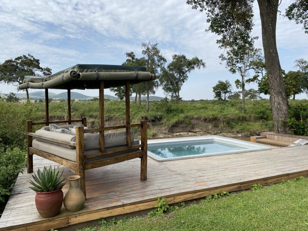 Kenya Masai Mara Sala's Camp day bed family safari