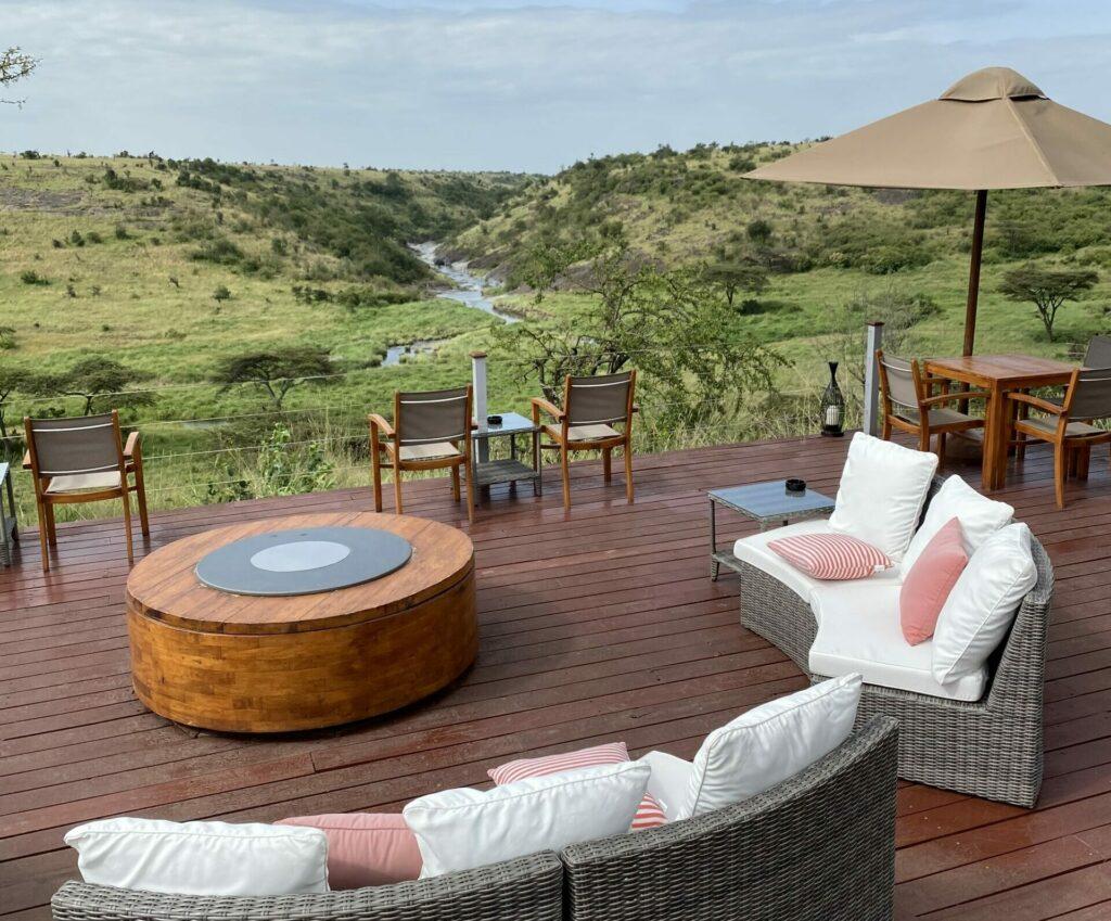 Kenya Mahali Mzuri deck view Masai Mara family safari