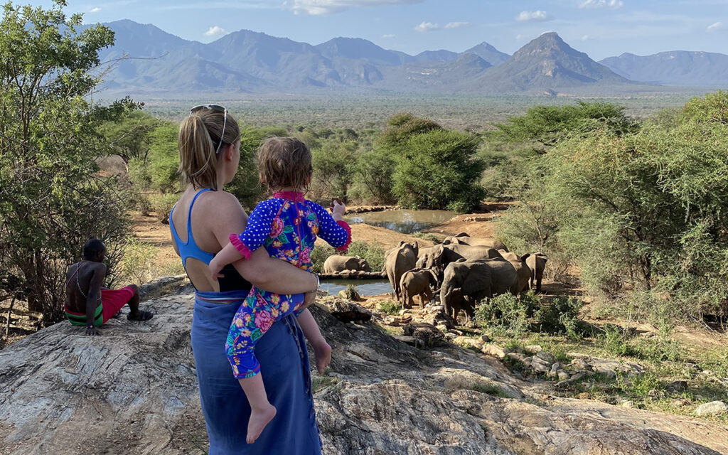 Tess and Elsa elephants Sarara family safari